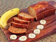 Безглутенов бананов кекс (кейк, сладкиш) с оризово брашно